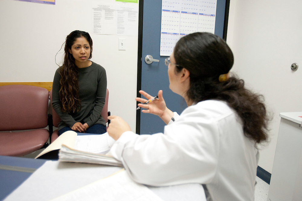 Evelin R. Martinez treats Mariana Flores at the South Central Family Health Center in Los Angeles, CA. Please Contact Me With Licensing Questions or Requests. Please contact Todd Bigelow directly with your licensing requests. This image has a signed release on file.