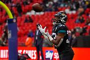 Jacksonville Jaguars Running Back Devine Ozigbo (33) warms up during the International Series match between Jacksonville Jaguars and Houston Texans at Wembley Stadium, London, England on 3 November 2019.