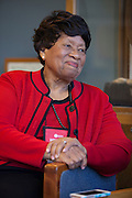 Dr. Joycelyn Elders, the 15th surgeon general of the United States, during an interview at Ohio University Lancaster Campus on Friday, March 18, 2016. Photo by Kaitlin Owens