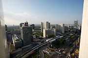 Vienna International Centre (UNO-City), U1 elevated tracks and Kaisermuehlen/Vienna International Centre station.