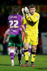 Frank Fielding of Bristol City applauds the away fans after the match ends in a 1-1 draw meaning a Tuesday night replay next week - Photo mandatory by-line: Rogan Thomson/JMP - 07966 386802 - 03/01/2015 - SPORT - FOOTBALL - Doncaster, England - Keepmoat Stadium - Doncaster Rovers v Bristol City - FA Cup Third Round Proper.