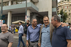 The former Minister of Productive Reconstruction Panos Skourletis joins demostrators during a 24-hours nationwide strike against a draft labour legislation in Athens, Greece, on 24 September 2019 <br /> <br /> <br /> <br /> Dimitris Lampropoulos  | EEm date