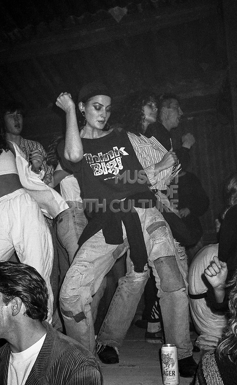 Liz Dancing, High Wycombe, UK, 1980s.