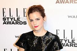 © Licensed to London News Pictures. 18/02/2014, UK. Emma Watson, ELLE Style Awards, One Embankment, London UK, 18 February 2014. Photo credit : Richard Goldschmidt/Piqtured/LNP
