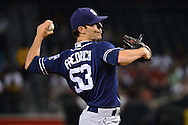 PHOENIX, AZ - JULY 05:  Christian Friedrich #53 of the San Diego Padres delivers a pitch during the first inning against the Arizona Diamondbacks at Chase Field on July 5, 2016 in Phoenix, Arizona.  (Photo by Jennifer Stewart/Getty Images)
