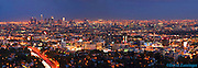 LA Night Skyline Colorful Sunset Panorama High dynamic range imaging (HDRI or HDR)
