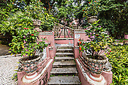 Stairs in the Jardim do Sao Francisco or Sao Francisco Garden in Macau.