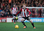 Brentford midfielder Ryan Woods during the Sky Bet Championship match between Brentford and Nottingham Forest at Griffin Park, London, England on 21 November 2015. Photo by David Charbit.