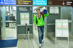 Robert Renner, gold medallist in pole vault during arrival of Slovenian team from European Athletics U23 Championships in Tallinn, Estonia, on July 13, 2015 in Airport Joze Pucnik, Brnik,  Slovenia. Photo by Vid Ponikvar / Sportida