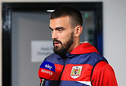 Bristol City's Marlon Pack is interviewed by Sky Sports before the match - Mandatory by-line: Matt McNulty/JMP - 21/09/2018 - FOOTBALL - DW Stadium - Wigan, England - Wigan Athletic v Bristol City - Sky Bet Championship