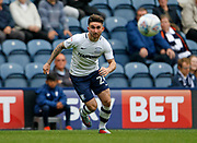 Seán Maguire of Preston North End during the EFL Sky Bet Championship match between Preston North End and Millwall at Deepdale, Preston, England on 23 September 2017. Photo by Paul Thompson.