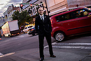 Faculty Expert Environmental Portraits - Academic Dean<br /> Business and Technologies Division Brendan Ferrara in Savannah's Downtown Historic District, Wdnesday, May 6, 2015 in Savannah, Ga. (STC Photo/Stephen B. Morton)