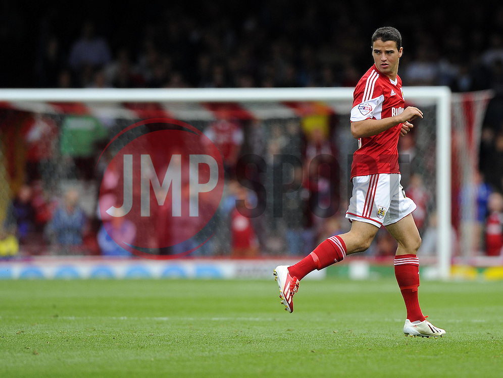 Bristol City's Stephen McLaughlin  - Photo mandatory by-line: Joe Meredith/JMP - Tel: Mobile: 07966 386802 14/09/2013 - SPORT - FOOTBALL -  Ashton Gate - Bristol - Bristol City V Peterborough United - Sky Bet League One