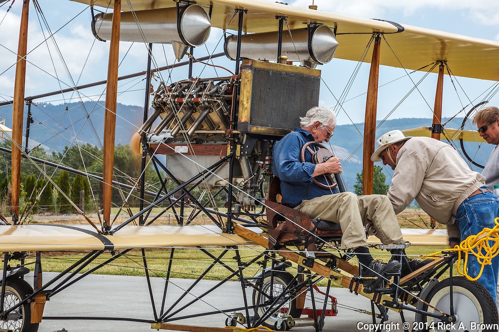 Curtiss Style Pusher circa 1910 at WAAAM.