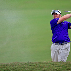 Apr 28, 2016; Avondale, LA, USA; Steve Wheatcroft on the 18th hole during the first round of the 2016 Zurich Classic of New Orleans at TPC Louisiana. Mandatory Credit: Derick E. Hingle-USA TODAY Sports