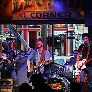 Chris Shrader plays at Legends Corner in Nashville. Also known as Music City, U.S.A., is most famous for its status as the long-time capital of country music, home to the Grand Ole Opry and the Country Music Hall of Fame. Musicians perform at the bars on Broadway&rsquo;s Honky Tonk Row in downtown Nashville.<br /> Photography by Jose More