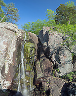 This is Missouri's highest waterfall, Mina Sauk Falls. The total height is 132 feet although it is split into several sections. It's a little tricky to get down to it, but it's a great place to cool off on a hot day.<br /> <br /> Date Taken: May 6, 2014