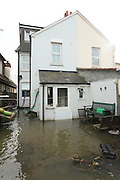Flooded homes and along the Chertsey Bridge Road. <br />