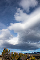 Cloud Formations over The Santa Fe Mountains, New Mexico