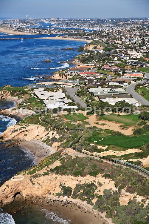 Aerial Photo of Corona Del Mar Real Estate off the Coast of Newport Beach