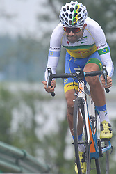 September 15, 2017 - Chenghu City, United States - Magno Prado Nazaret from Soul Brasil Pro Cycling team during the fourth stage of the 2017 Tour of China 1, the 3.3 km Chenghu Jintang individual time trial. .On Friday, 15 September 2017, in Jintang County, Chenghu City,  Sichuan Province, China. (Credit Image: © Artur Widak/NurPhoto via ZUMA Press)