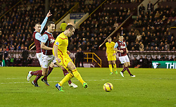 BURNLEY, ENGLAND - Boxing Day, Friday, December 26, 2014: Liverpool's Rickie Lambert sees his goal disallowed for off-side against Burnley during the Premier League match at Turf Moor. (Pic by David Rawcliffe/Propaganda)