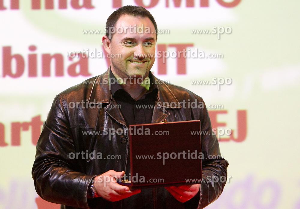of Cestno podjetje Ptuj during the Slovenia's Athlete of the year award ceremony by Slovenian Athletics Federation AZS, on November 12, 2008 in Hotel Mons, Ljubljana, Slovenia.(Photo By Vid Ponikvar / Sportida.com) , on November 12, 2010.