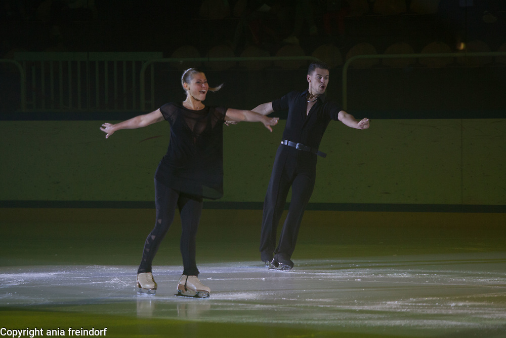 International Ice Skating Gala, Courchevel, France, 20 July 2017, Carolina Moscheri, Andrea Fabbri, Members of National Team, Italy