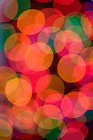 Impressionistic Photo of Christmas Tree Lights