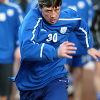 St Johnstone's new signing ex-celt Rudi Vata pictured during training.<br />see story by Gordon Bannerman Tel: 01738 553978<br />Picture by Graeme Hart.<br />Copyright Perthshire Picture Agency<br />Tel: 01738 623350  Mobile: 07990 594431