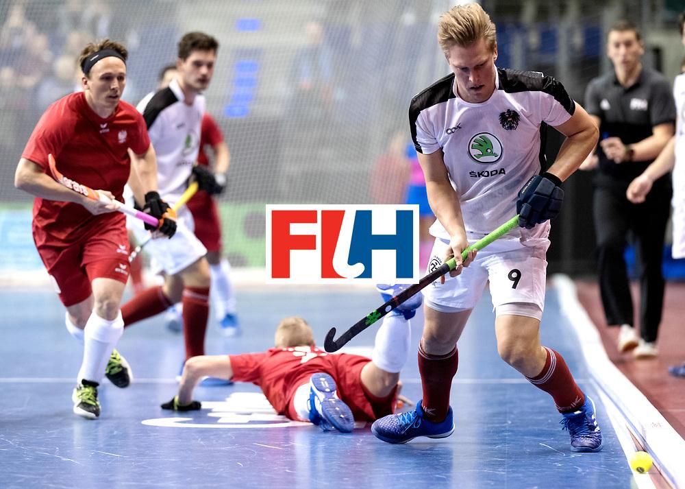 BERLIN - Indoor Hockey World Cup<br /> Quarterfinal 2: Austria - Poland<br /> foto: Michael K&ouml;rper.<br /> WORLDSPORTPICS COPYRIGHT FRANK UIJLENBROEK