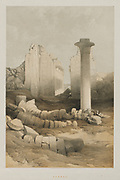 Karnak from Egypt and Nubia, Volume II: Karnak, 1848. Louis Haghe (British, 1806-1885), F.G.Moon, 20 Threadneedle Street, London, after David Roberts (British, 1796-1864). Color lithograph; sheet: 60.4 x 43.6 cm (23 3/4 x 17 3/16 in.); image: 48.8 x 32.7 cm (19 3/16 x 12 7/8 in.)