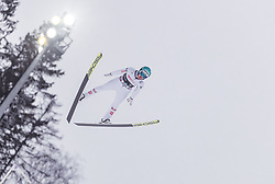 16.03.2019, Vikersundbakken, Vikersund, NOR, FIS Weltcup Skisprung, Raw Air, Vikersund, Teambewerb, im Bild Michael Hayboeck (AUT) // Michael Hayboeck of Austria during the team competition of the 4th Stage of the Raw Air Series of FIS Ski Jumping World Cup at the Vikersundbakken in Vikersund, Norway on 2019/03/16. EXPA Pictures © 2019, PhotoCredit: EXPA/ JFK