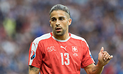 19.06.2016, Stade Pierre Mauroy, Lille, FRA, UEFA Euro, Frankreich, Schweiz vs Frankreich, Gruppe A, im Bild Ricardo Rodriguez (SUI) // Ricardo Rodriguez (SUI) during Group A match between Switzerland and France of the UEFA EURO 2016 France at the Stade Pierre Mauroy in Lille, France on 2016/06/19. EXPA Pictures © 2016, PhotoCredit: EXPA/ JFK