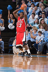 28 December 2006: Rutgers forward (13) Ollie Bailey during a 87-48 Rutgers Scarlet Knights loss to the North Carolina Tarheels, in the Dean Smith Center in Chapel Hill, NC.<br />