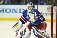 May 29 2014 New York Rangers Goalie Henrik Lundqvist 30  Prior to The Start of Game 6 of The Eastern Conference Finals between The Montreal Canadiens and The New York Rangers AT Madison Square Garden in New York NY NHL Ice hockey men USA May 29 Eastern Conference Final Canadiens AT Rangers Game 6  <br />