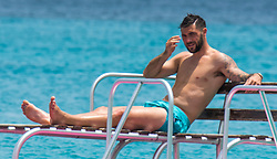 EXCLUSIVE: Southhampton footballer Charlie Austin and family are spotted on Sandy Lane beach in Barbados. 24 May 2017 Pictured: Charlie Austin. Photo credit: Tanya Boyce-Islandpaps.com/MEGA TheMegaAgency.com +1 888 505 6342