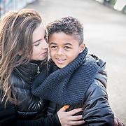 NLD/Biddinghuizen//20170305 - De Hollandse 100 - Stichting Lymph & Co 2017, Rosanna Kluivert met zoontje Shane Kluivert