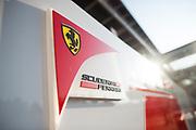 October 27-29, 2017: Mexican Grand Prix. Ferrari logo detail in the paddock