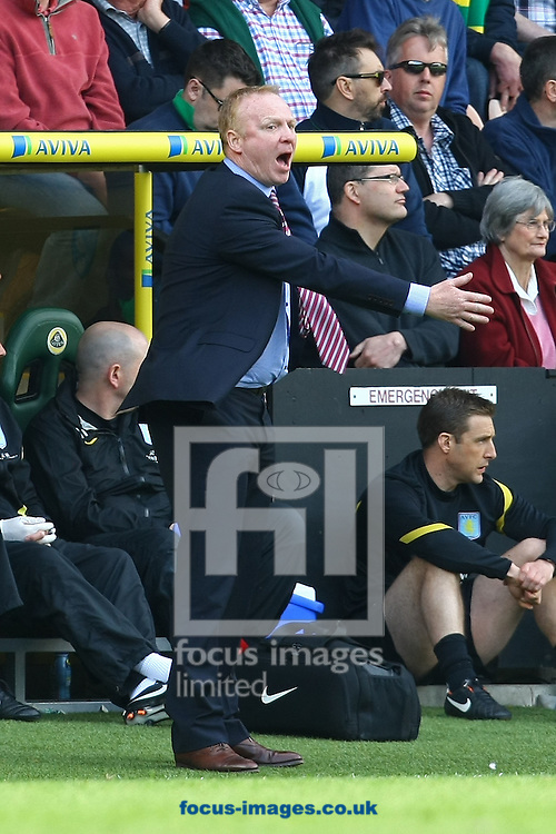 Picture by Paul Chesterton/Focus Images Ltd.  07904 640267.13/05/12.Aston Villa Manager Alex McLeish during the Barclays Premier League match at Carrow Road Stadium, Norwich.