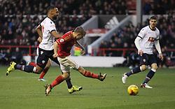 Jamie Ward of Nottingham Forest has a shot at goal - Mandatory byline: Jack Phillips/JMP - 16/01/2016 - FOOTBALL - The City Ground - Nottingham, England - Nottingham Forest v Bolton Wonderers - {event}