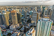 Aerial view of Brickell area and downtown Miami.