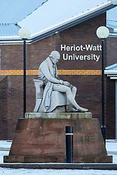 View of statue of James Watt outside Heriot-Watt University in Edinburgh, Scotland, United Kingdom
