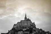 Evening light over Mont Saint-Michel, Normandy, France