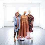 """18.05.2018.          <br /> More than 500 people attended the flagship event of the inaugural Unwrap LSAD Fashion Festival in Limerick.<br /> <br /> Graduate Aysha Birani, Ontario Cnanade is pictured with her Design, Cacophony.<br /> <br /> The Limerick School of Art & Design, LIT, Fashion Design Graduate Exhibition and launch of the """"The Fashion Film"""" at Limerick City Gallery of Art, in partnership with EVA International, attracted hundreds of people from the world of fashion. <br /> <br /> A total of 27 fashion graduates presented their designs alongside the specially commissioned film by fashion stylist and creative director Kieran Kilgallon and videographer Albert Hooi. Picture: Alan Place"""