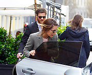 04.APRIL.2013. MADRID<br /> <br /> REAL MADRID FOOTBALLER XABI ALONSO ENJOYS LUNCH WITH WIFE NAGORE ARAMBURU AND CHILDREN JON AND ANNE IN MADRID, SPAIN.<br /> <br /> BYLINE: EDBIMAGEARCHIVE.CO.UK<br /> <br /> *THIS IMAGE IS STRICTLY FOR UK NEWSPAPERS AND MAGAZINES ONLY*<br /> *FOR WORLD WIDE SALES AND WEB USE PLEASE CONTACT EDBIMAGEARCHIVE - 0208 954 5968*