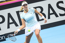 February 7, 2019 - Zielona Gora, Poland - Anett Kontaveit (EST) during Tennis 2019 Fed Cup by Paribas Europe/Africa Zone Group 1  match between Sweden and Estonia in Zielona Gora, Poland, on February 7, 2019. (Credit Image: © Foto Olimpik/NurPhoto via ZUMA Press)