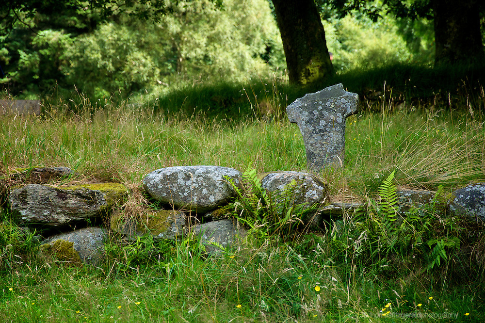 ruins of an ancient grave stone