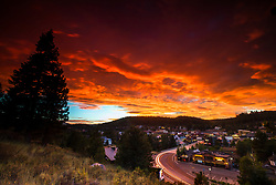 """""""Downtown Truckee 66"""" Photograph of Historic Downtown Truckee shot at sunset from near the Cottonwood restaurant."""