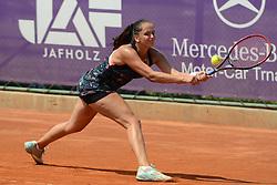 May 19, 2018 - Trnava, Slovakia - VIKTORIA KUZMOVA of Slovakia in her semifinal match in the Empire Slovak Open tennis tournament in Trnava Slovakia (Credit Image: © Christopher Levy via ZUMA Wire)